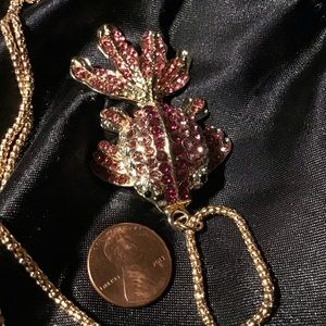 "26.5"" Goldfish Pink Necklace"